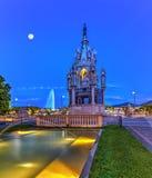 Het monument van Brunswick en fontein, Genève stock foto
