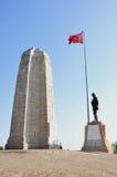 Het Monument van Canakbayiri dichtbij Anzac Cove in Gallipoli, Turkije stock foto's