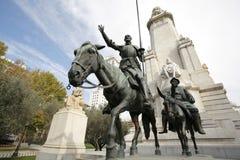 Het Monument van Cervantes, Madrid, Spanje Stock Afbeelding
