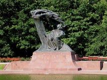Het Monument van Chopin in Warshau, Polen Stock Foto