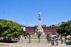Het monument van Christopher Columbus in Buenos aires stock foto's