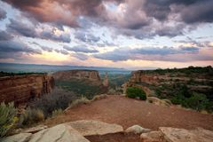 Het monument van Colorado stock afbeeldingen