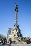 Het Monument van Columbus, Barcelona Stock Afbeeldingen