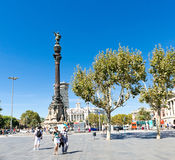Het Monument van Columbus op 14 September, 2012 in Barcelona, Spanje. Stock Fotografie