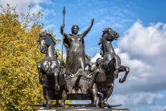 Het monument van de Boudiccanopstand in Londen Stock Fotografie