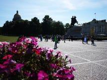 Het Monument van de Bronsruiter in Heilige Petersburg De overzeese hoofdstad van Rusland Details en close-up royalty-vrije stock foto