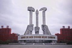 Het Monument van de de Arbeiders` s Partij van Noord-Korea Stock Fotografie