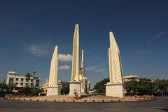 Het monument van de democratie in Bangkok, Thailand Stock Foto's