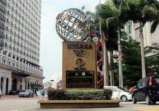 Het monument van de de erfenisstad van de Melakawereld in Bandar Hilir, Melaka In 7 Juli, 2008 royalty-vrije stock foto's