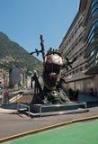 Het monument van de klok door Salvador Dali in La Vella, Andorra van Andorra Royalty-vrije Stock Afbeelding