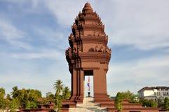 Het Monument van de onafhankelijkheid, Kambodja Stock Foto