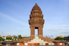 Het Monument van de onafhankelijkheid in Phnom Penh Stock Foto