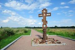 Het Monument van de oorlog op Nevsky Pyatachok Stock Foto's