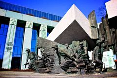 Het Monument van de Opstand van Warshau Royalty-vrije Stock Foto