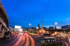 Het monument van de overwinning in centraal Bangkok Royalty-vrije Stock Afbeeldingen