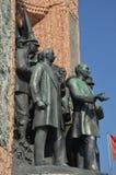 Het Monument van de republiek, Taksim-Vierkant in Istanboel, Turkije Royalty-vrije Stock Afbeelding