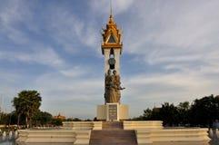 Het Monument van de Vriendschap van Kambodja Vietnam Stock Foto