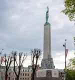 Het monument van de Vrijheid in Riga, Letland Stock Fotografie