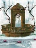 Het monument van de waterval royalty-vrije illustratie