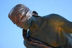 Het Monument van de zeeman aan G Spinettipijler in de stad van Forte dei Marmi, Toscanië stock foto's