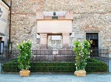 Het Monument van Francesco Petrarch ` s Stock Foto's