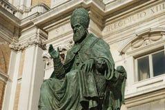 Het monument van het brons van Paus Sisto V, Loreto Royalty-vrije Stock Fotografie