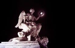 Het monument van het de nachtbeeldhouwwerk van Versailles Royalty-vrije Stock Foto's