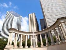 Het Monument van het millennium in Wrigley Vierkant, Chicago stock afbeelding