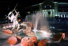 Het monument van het paard en van de ruiter Stock Foto's