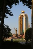 Het monument van Ismail Samani in Dushanbe Royalty-vrije Stock Foto