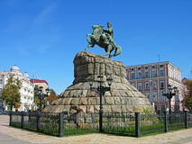 Het monument van Khmelnitsky van Bogdan, Kiev, de Oekraïne Stock Fotografie