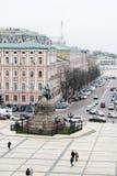 Het monument van Khmelnytsky van Bohdan Stock Afbeeldingen