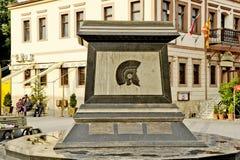 Het monument van Koning Filip II in Bitola Royalty-vrije Stock Foto's
