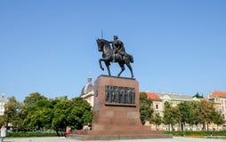 Het monument van Kralj Tomislav - Eerste Koning van Kroatië stock afbeeldingen
