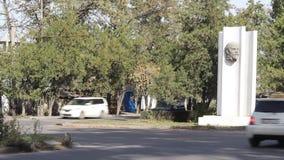 Het monument van Lenin in Bishek stock videobeelden