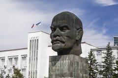 Het monument van Lenin in Ulan-Ude stock fotografie