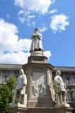 Het monument van Leonardo da Vinci Royalty-vrije Stock Afbeeldingen
