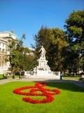 Het monument van Mozart, Wenen Royalty-vrije Stock Foto's