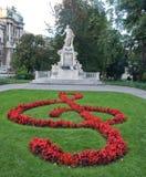 Het monument van Mozarts Stock Afbeeldingen