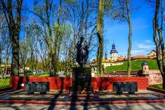 Het Monument van het Nesvizhkasteel royalty-vrije stock fotografie