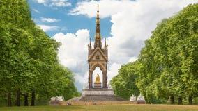 Het monument van prinsAlbert, Hyde-park Londen stock video