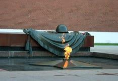 Het monument van Rusland, Moskou aan de onbekende militair Stock Afbeeldingen