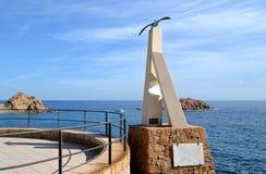 Het monument van Sagavina in Tossa de Mar, Spanje Stock Foto