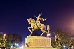 Het monument van Tamerlan in Tashkent Stock Afbeelding