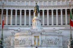 Het Monument van Victor Emmanuel II, Venezia-Vierkant, in Rome, het stock foto