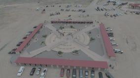 Het monument van vier Hoeken stock footage