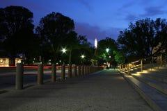 Het Monument van Washington bij Nacht Stock Afbeelding