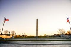 Het Monument van Washington in Dawn Royalty-vrije Stock Fotografie
