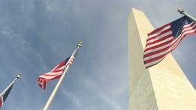 Het monument van Washington in Washington, gelijkstroom stock video