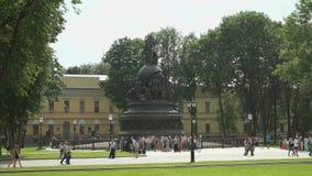 Het monumentenmillennium van Rusland in Rusland stock video